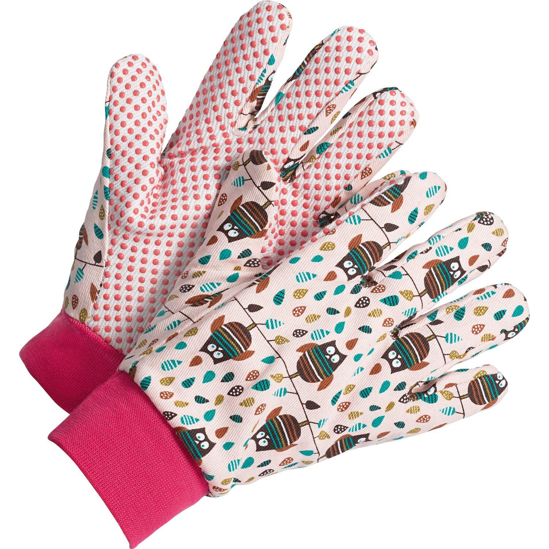 04c7df8dabe LUX Detské rukavice Classic so sovami ružové veľkosť č. 5 nakúpiť v OBI