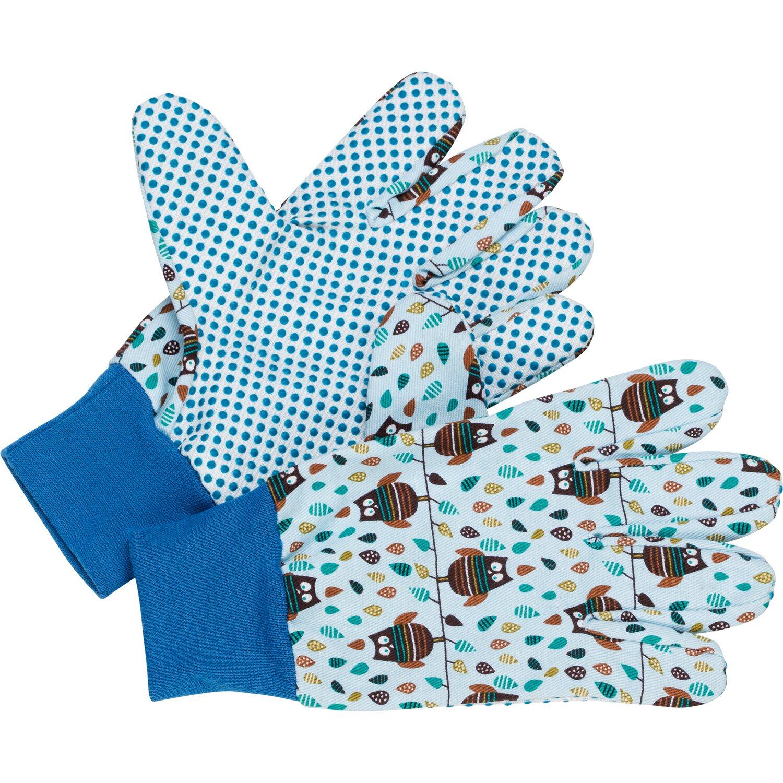 LUX Detské rukavice Classic so sovami modré veľkosť č. 5 nakúpiť v OBI e85d24a632