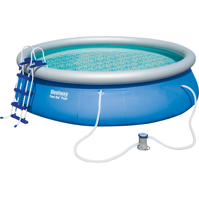Bestway fast set pool priemer 457 cm x 107 cm nak pi v obi for Bestway portable pool