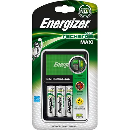 Energizer Nabíjačka Maxi + 4AA Power Plus 2000 mAh Pre-charge, 1 ks