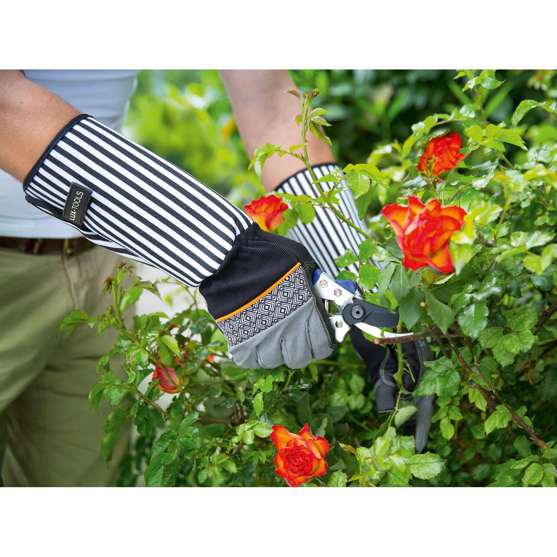 LUX Rukavice na starostlivosť o ruže Comfort pánske čierno-biele ... 9ca4ed1ca3