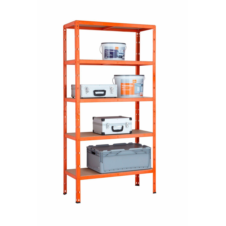kovov bezskrutkov reg l na a k bremen 180 cm x 90 cm x 40 cm oran ov nak pi v obi. Black Bedroom Furniture Sets. Home Design Ideas