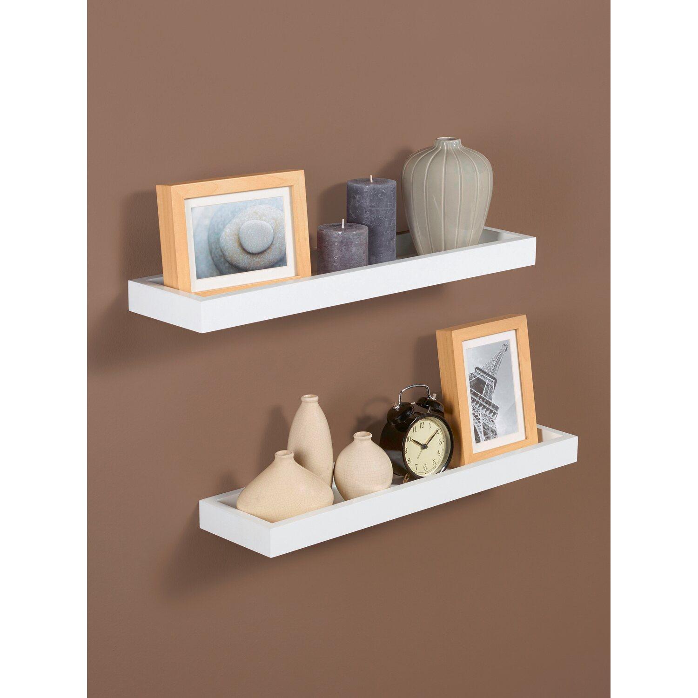 polica na stenu 60 cm x 15 cm x 4 cm biela nak pi v obi. Black Bedroom Furniture Sets. Home Design Ideas