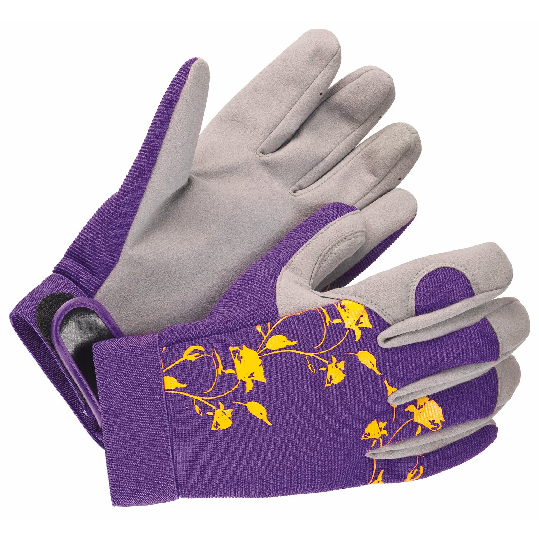 ae9916d28ef LUX Záhradné rukavice fialové M nakúpiť v OBI