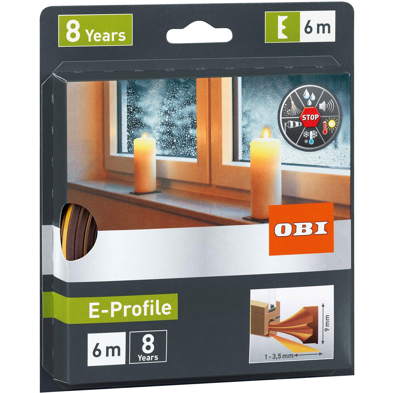 OBI Tesnenie dverí a okien z gumy E-profil hnedé nakúpiť v OBI 71e96fd6345
