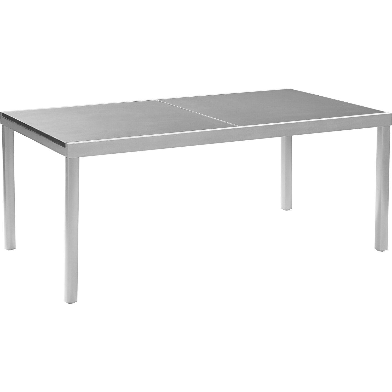 a1898b6e874d OBI Sklenený záhradný stôl Harris 180 240 cm x 100 cm rozkladací strieborný