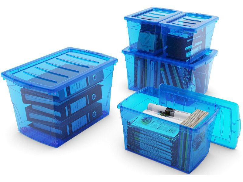 d6116ced6 Úložný box Home XL so 4 kolieskami modrý nakúpiť v OBI