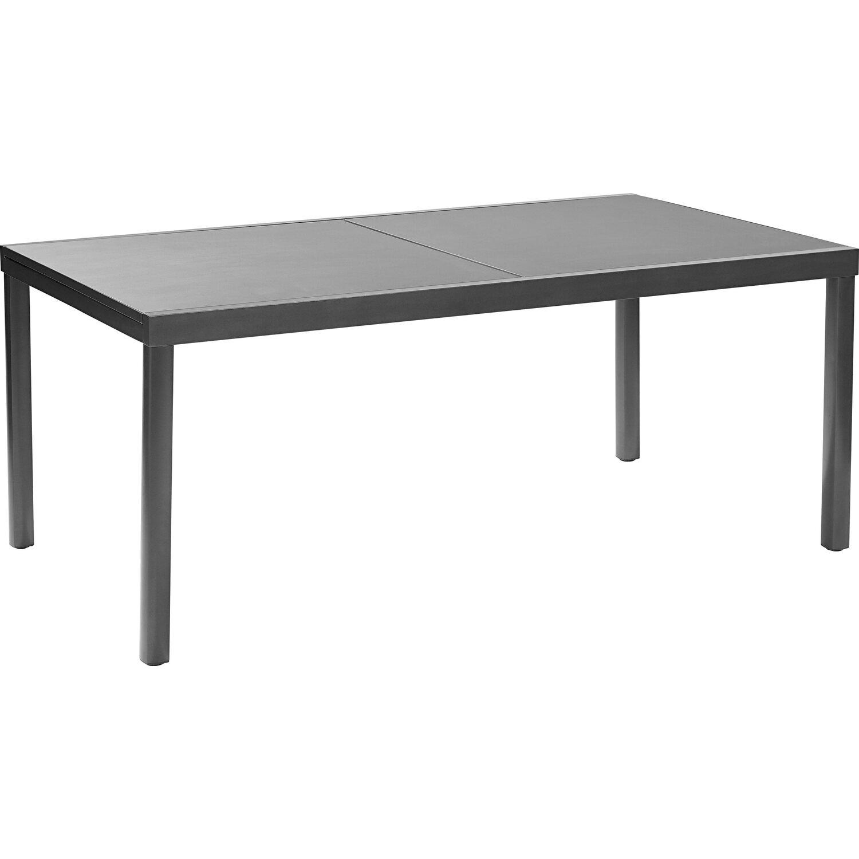 418b1c10478d OBI Sklenený záhradný stôl Harris 180 240 cm x 100 cm rozkladací antracitový
