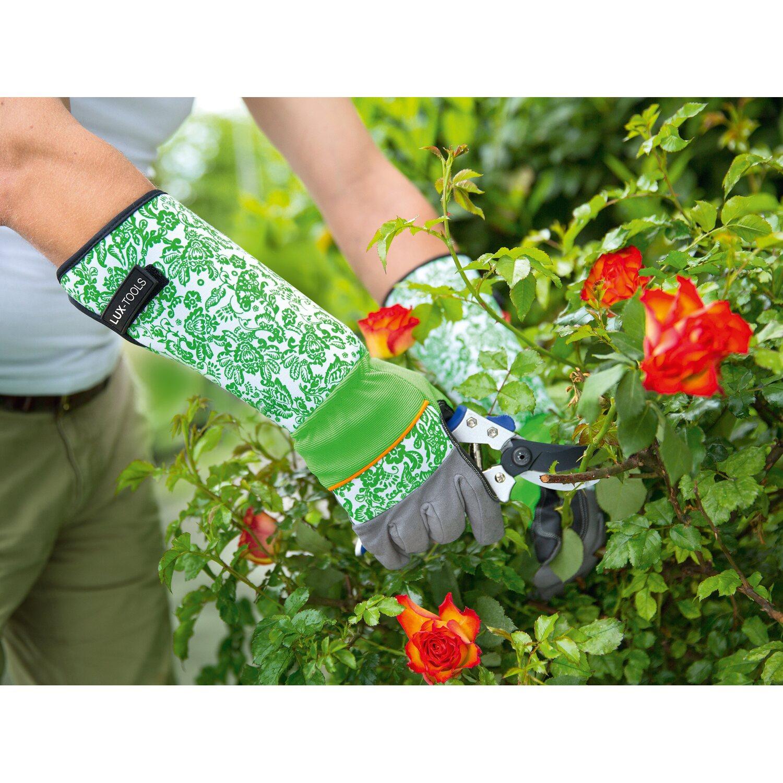 LUX Rukavice na starostlivosť o ruže Comfort dámske čierno-biele veľkosť 8 8016fd8c75