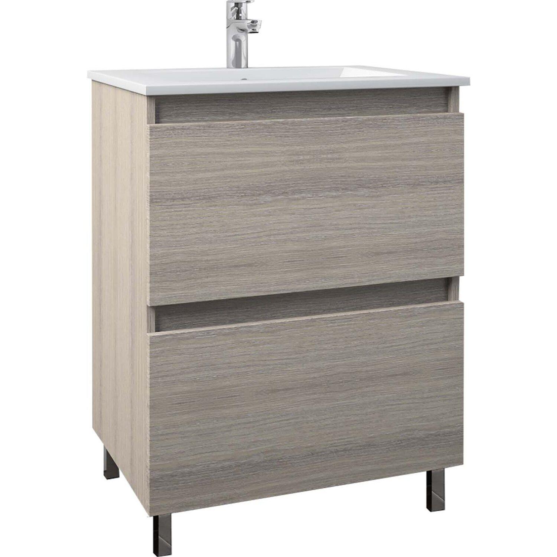 ff4872fd03619 Kúpeľňová skrinka s umývadlom Marika 60 dekor drevo nakúpiť v OBI