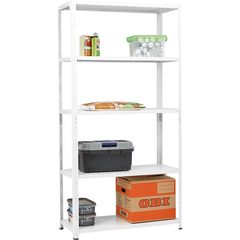 obi kovov z suvn reg l biely 195 cm x 100 cm x 40 cm nak pi v obi. Black Bedroom Furniture Sets. Home Design Ideas
