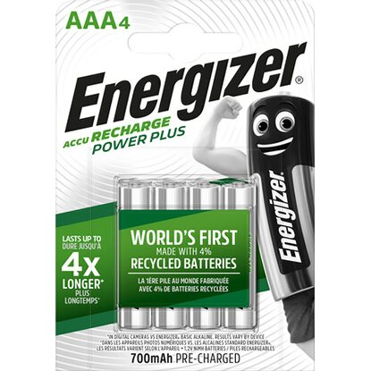 Energizer NiMH Batéria Power Plus Micro (AAA) 700 mAh, 4 ks